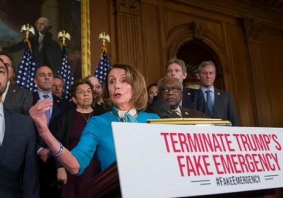 Senate OKs resolution against Trump's emergency