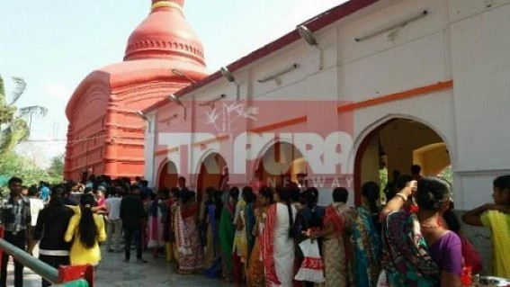 Devotees across Tripura thronged to Tripura Sundari temple for New Year's blessings