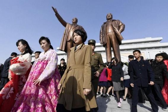 North Korea marks founder's 107th birth anniversary