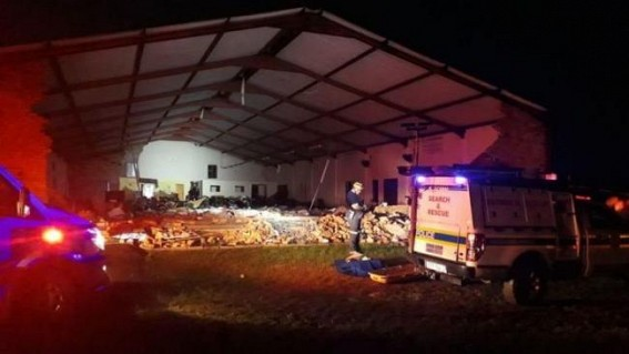 13 killed in South Africa church collapse