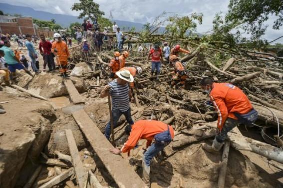 Mudslide kills 14 in Colombia