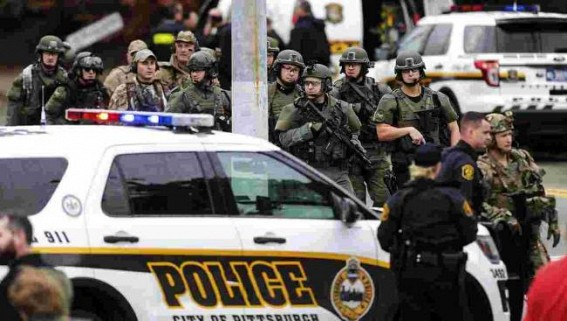 1 killed in US synagogue shooting, suspect held