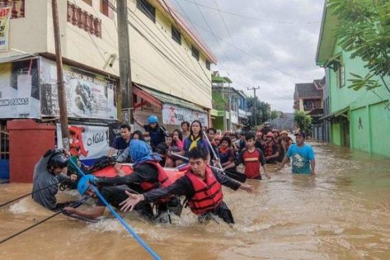 12 killed in Indonesia floods, landslides