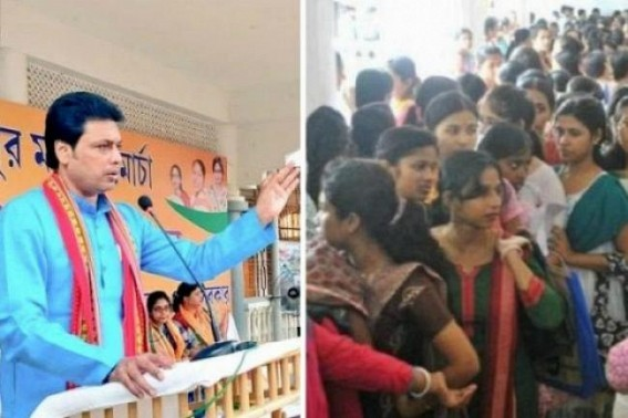 No 'Sarkari Naukri' planning by Biplab Govt rattles Unemployed youths as High Court's verdicts are in favour of Govt Job aspirants : Unemployment rate in Tripura touched 25.4%