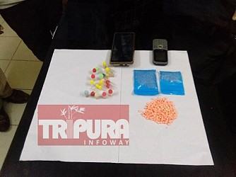 2 arrested with yaba tablets and heroin at Kanchanpur. TIWN Pic May 23