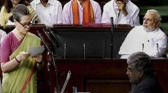 Sonia takes oath in Lok Sabha amid BJP barbs