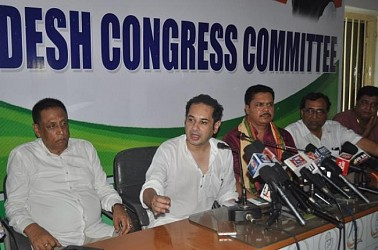 Congress held press meet at Congress Bhawan. TIWN Pic June 20