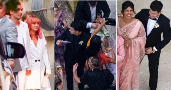 Priyanka goes traditional for Joe, Sophie's wedding