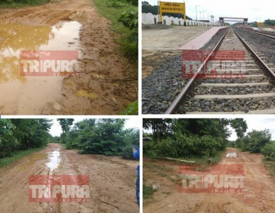 Corrupt State PWD, Lameduck MLA hampers Modi's 'Look East' Mission on Railways : Santir Bazar Railway Station unoperational due to Local BJP MLA, PWD's lethargy, negligence amid NFR's quality works on track