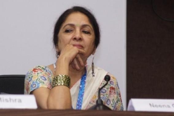 Ayushmann's on-screen mom Neena Gupta stuns in saree