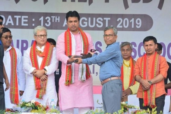 'You have proven, the previous path was Incorrect, let's fulfill Maharaja Bir Bikram Manikya's vision for Tripura together' : CM tells surrendered home-returning militants of NLFT-SD