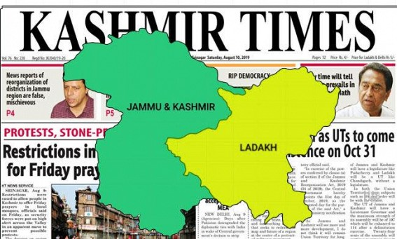 Kashmir Times Editor moves SC for hearing on Valley curbs