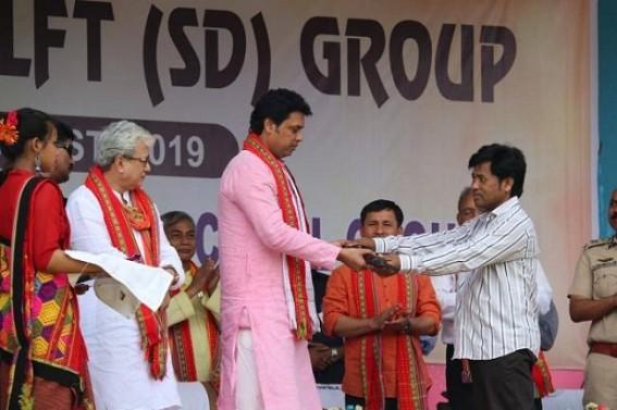 NLFT-SD Ultras surrender marks Modi Govt's bold steps to contain Militancy :  Tripura CM's message to Ultras likely to end Militancy in Tripura