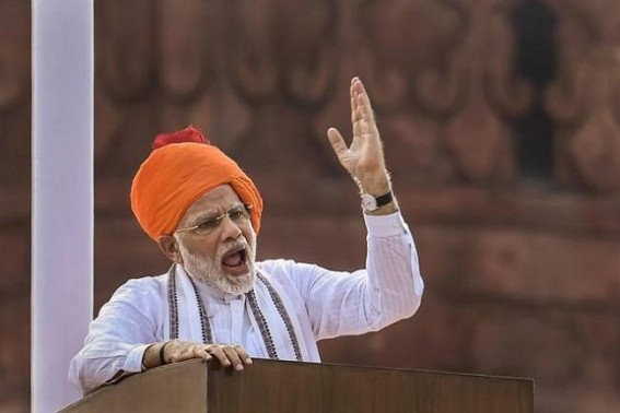 PM Modi's I-Day speech added by Political Strike at Red Fort, says, '70 years pending work on Article 370, 35A is now done at 70 days of new Govt'