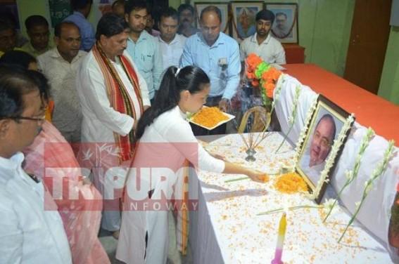 Tripura BJP pays tribute to late Arun Jaitley