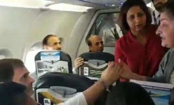 Kashmiri woman shares J&K's ordeal with Rahul on flight
