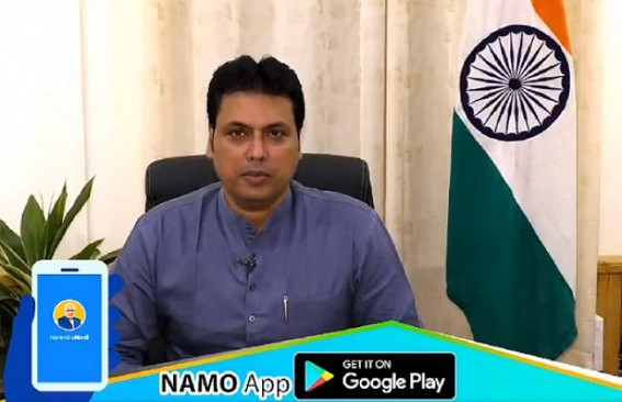 Tripura CM calls public to download NaMo app