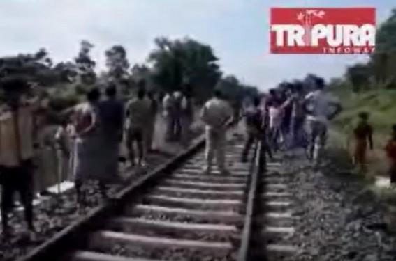 45 years man dies after being hit by train in Tripura