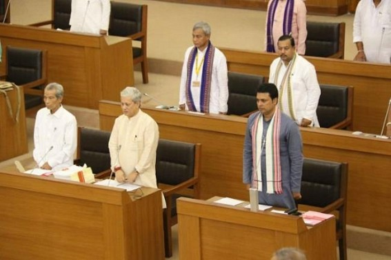 Assembly session begins, CM asked Opposition to make valuable contribution for Tripura's development