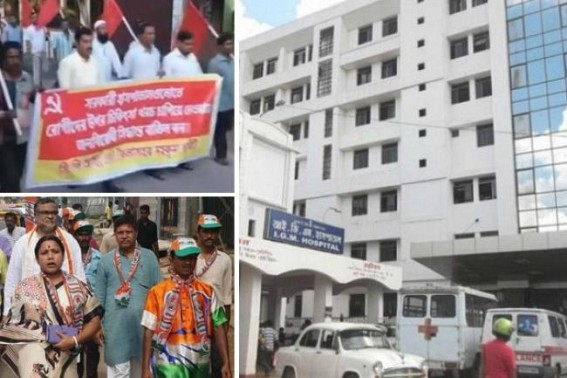 Statewide Protest rows continue over Tripura BJP Govt's inhuman decision of Scrapping Free-Health-Service in State Govt hospitals