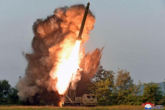 N. Korea tests super-large multiple rocket launcher