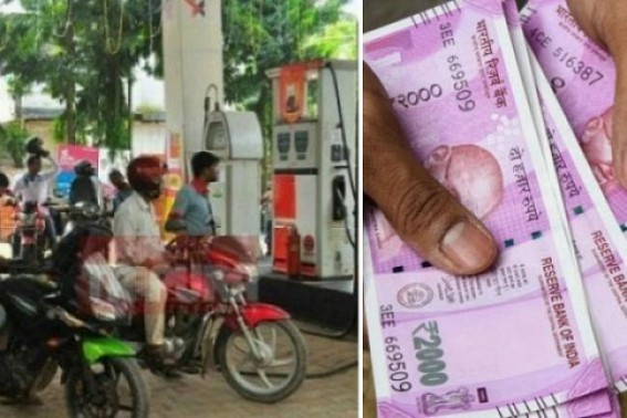 Fuel Prices shoot up for 8th straight day causing 'depressing markets' : Petrol price in Agartala today goes at Rs. 74.88, Diesel Ra. 69.34, higher than Delhi