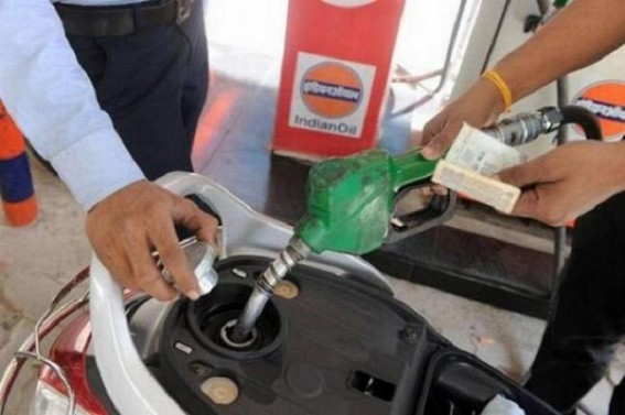 Petrol, Diesel prices remained unchanged in Agartala on Wednesday at Rs. 74.14 and Rs. 68.89