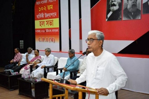 'Badal Chowdhury dedicated whole life for people, nobody can bring a single spot on his image' : Manik Sarkar