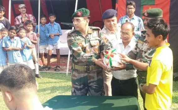 Assam Rifles organized volleyball match