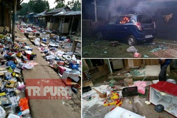 Violence rattles Tripura on second day of Northeast Anti-CAB Strike : Internet suspension ordered, Tiprasa Parties announced to continue Protest tomorrow