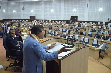 Ratanlal Nath addressing at Pragna Bhawan. TIWN Pic Dec 16