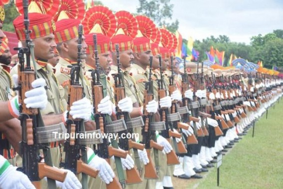 Multi-layered security arrangements in Tripura for Independence-Day celebrations, preparations on peak