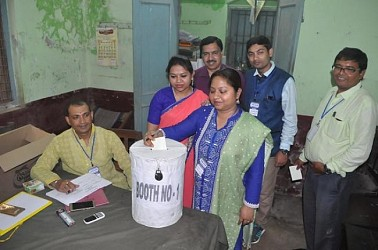 Tripura Bar Association Election held at West District Court. TIWN Pic Feb 23
