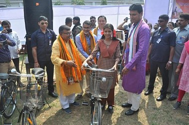 Bicycle provided to school students. TIWN Pic Feb 23