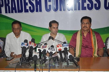 Congress State President Pradyot Manikya addressing in a press meet at Congress Bhawan. TIWN Pic June 20