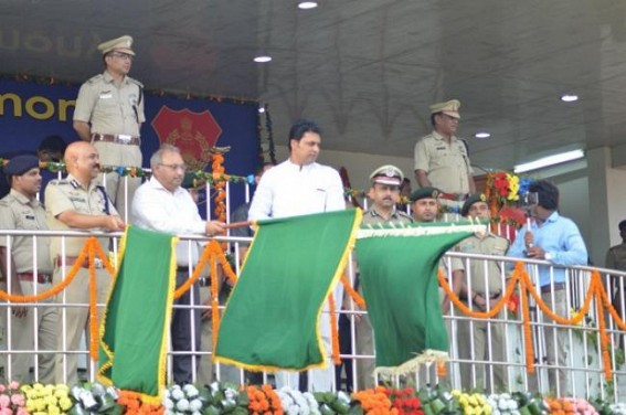 CM flags off Beat Patrolling 2-wheelers for Tripura Police, 261 Bikes distributed
