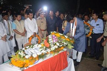 Tripura CM paid last tributes to Smt. Kamal Prabha Devi, mother of Dy CM Jishnu Debbarman. TIWN Pic Sep 13