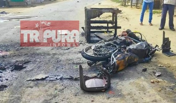 Violence reported at Manu Bazaar during NO-CAB Strike, massive property burning reported