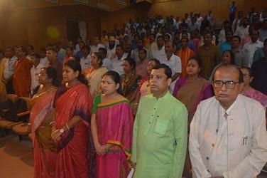 BJP celebrates Gandhi Sankalp Yatra at Rabindra Bhawan. TIWN Pic Oct 15