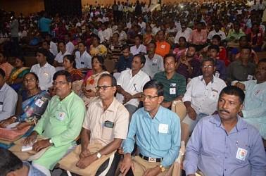 Panchayat level meeting held at Rabindra Bhawan. TIWN Pic Sep 13