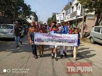 Umakanta Academy School students held rally to spread message of brotherhood, unity, peace. TIWN Pic Nov 15