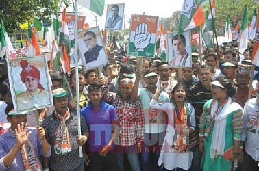 Congress West Tripura candidate Subal Bhowmik submits nomination. TIWN Pic March 25