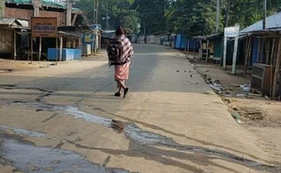 Tripura ADC areas remained 100% shutdown in protest against CAB