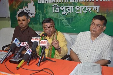 BJP held press meet. TIWN Pic Aug 23