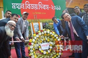 Bangladesh Assistant High Commissioner Office in Agartala observed Vijay Diwas of Bangladesh. TIWN Pic Dec 16