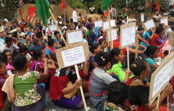 CPI-M protests on hills against ADC deprivation