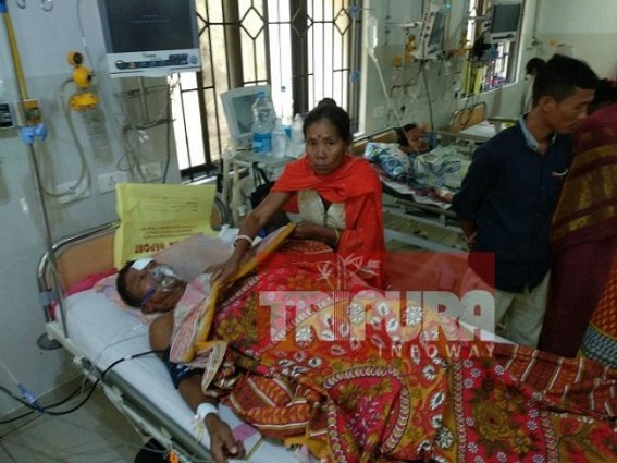 One CPI-M activist admitted in GB hospital after beaten allegedly by BJP on poll day. TIWN Pic May 13