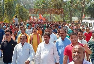 Rebati Tripura submitted nomination for East Tripura. TIWN Pic March 25