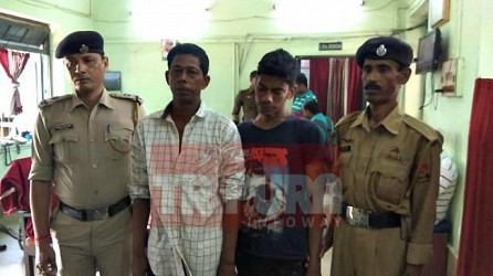 2 thieves arrested by West Agartala Police. TIWN Pic April 21, 2019