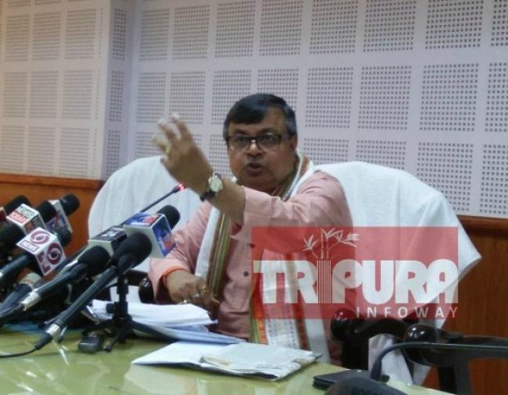 Tripura Law Minister turns red on Poll-Rigging question, asked Journalists to visit West Bengal to see what's call rigging